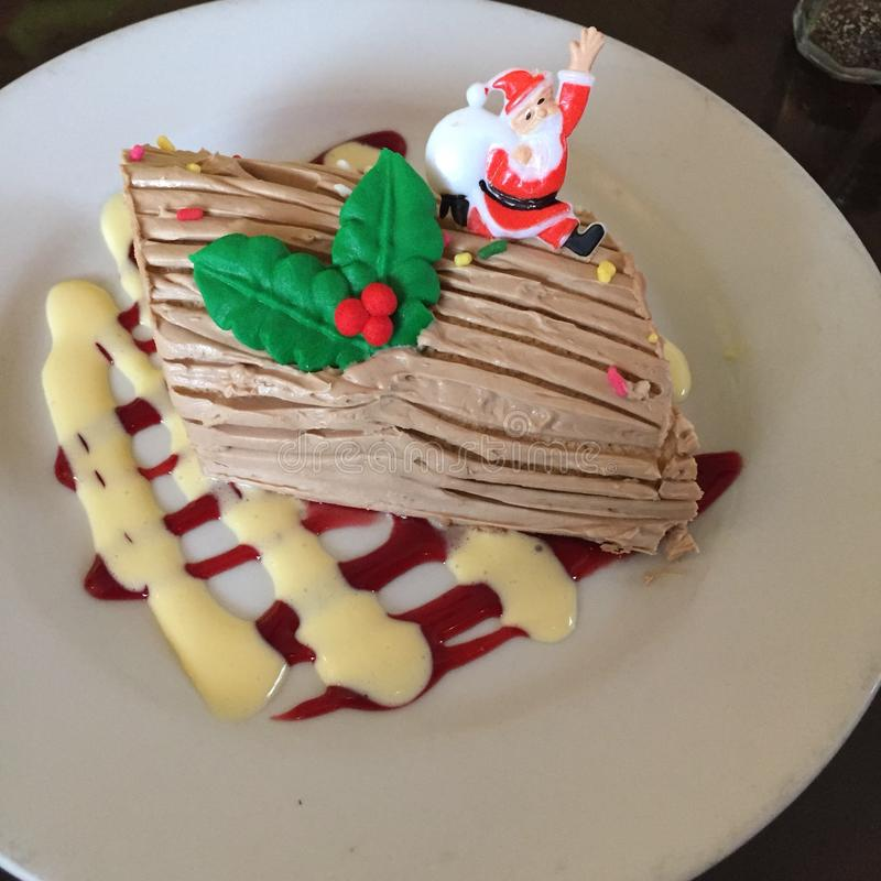 Пустыня рождества Bouche Noel стоковое изображение rf