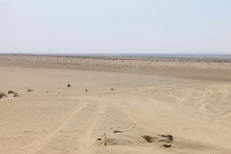 Пустыня Сахары Тунис, Ghlissia Kebili стоковое фото rf