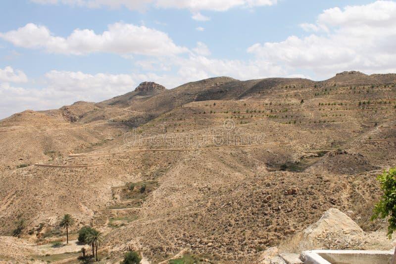 Пустыня Сахары Тунис, Matmata зона Berber в южном Тунисе стоковая фотография