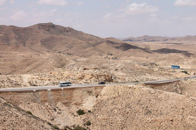 Пустыня Сахары Тунис, Matmata зона Berber в южном Тунисе стоковое фото rf