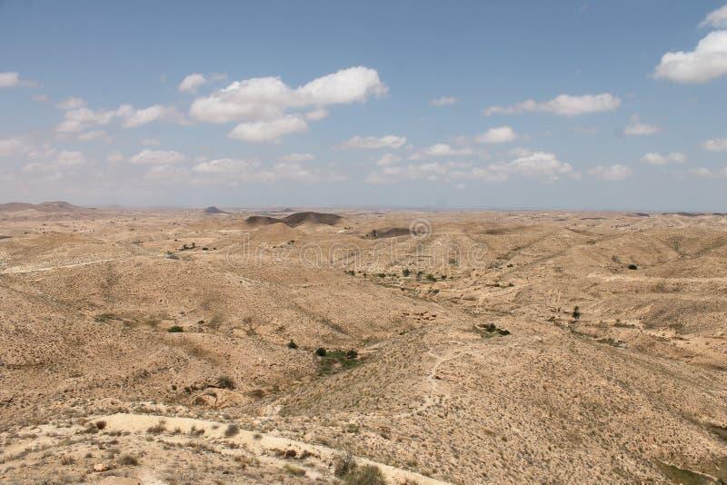 Пустыня Сахары Тунис, Matmata зона Berber в южном Тунисе стоковые изображения