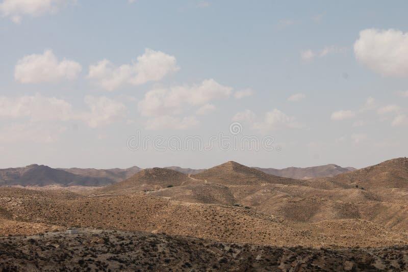 Пустыня Сахары Тунис, Matmata зона Berber в южном Тунисе стоковая фотография rf