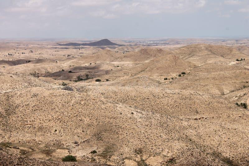 Пустыня Сахары Тунис, Matmata зона Berber в южном Тунисе стоковые фотографии rf
