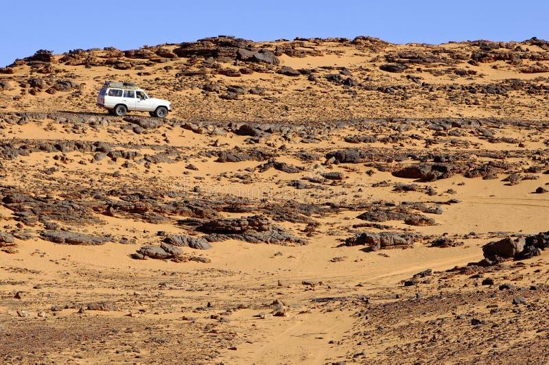 пустыня с корабля дороги грубого стоковые изображения rf