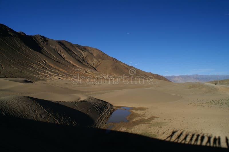 пустыня Тибет стоковые изображения rf