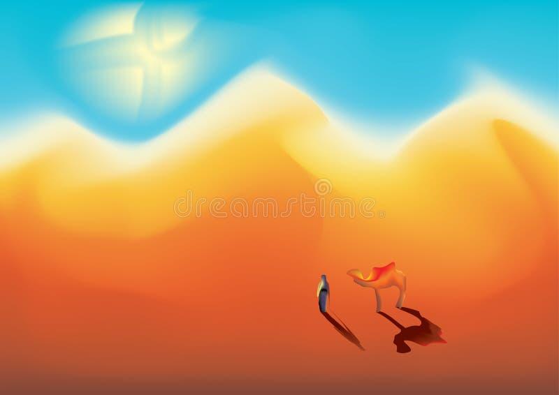пустыня иллюстрация штока