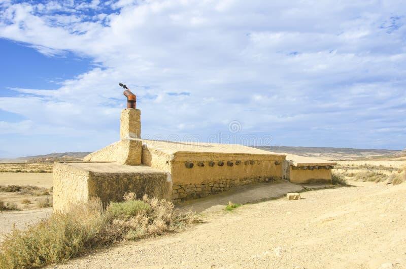 Пустыня Bardenas Reales в Наварре стоковое изображение rf