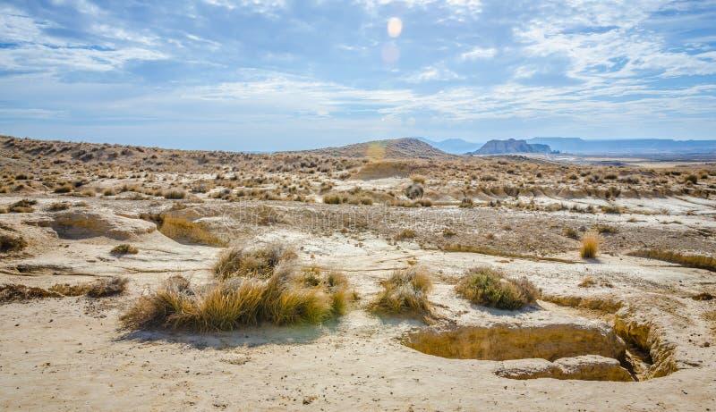 Пустыня Bardenas Reales в Наварре стоковое изображение