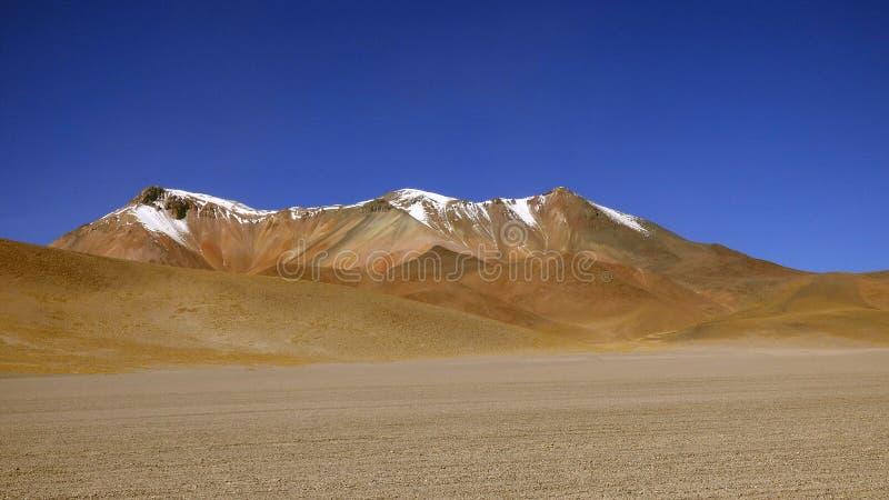 Пустыня Dali в Altiplano Боливия, Южная Америка стоковые фотографии rf