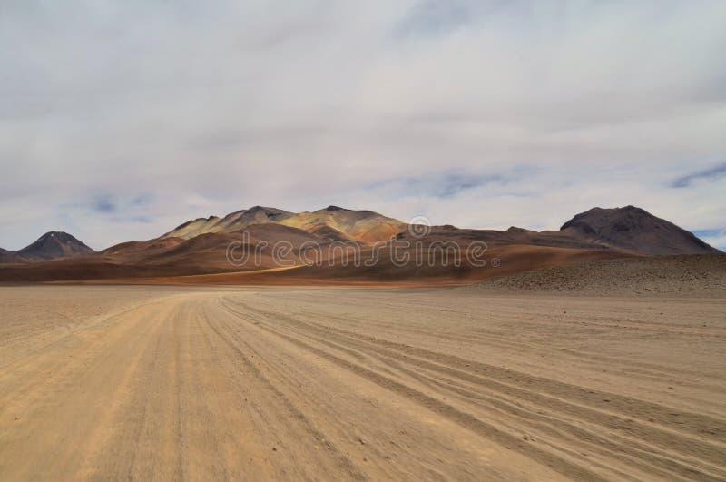 Пустыня Dali, сюрреалистический красочный неурожайный ландшафт стоковые изображения