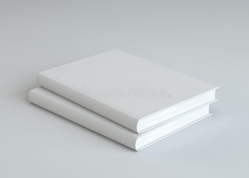 2 пустых белой книги стоковое изображение rf