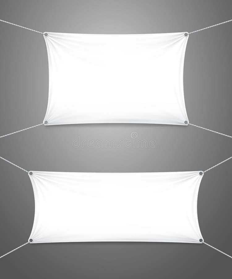 2 пустых белых знамени с copyspace бесплатная иллюстрация
