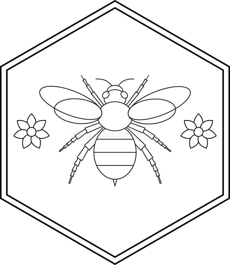Путайте дизайн значок пчелы и цветка иллюстрация вектора