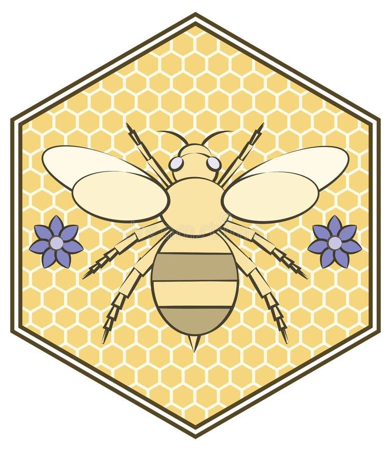 Путайте дизайн значок пчелы и цветка Комната для текста иллюстрация штока