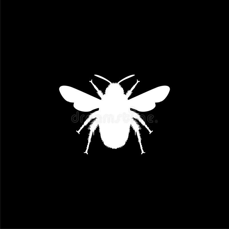 Путайте значок или логотип пчелы на темной предпосылке бесплатная иллюстрация