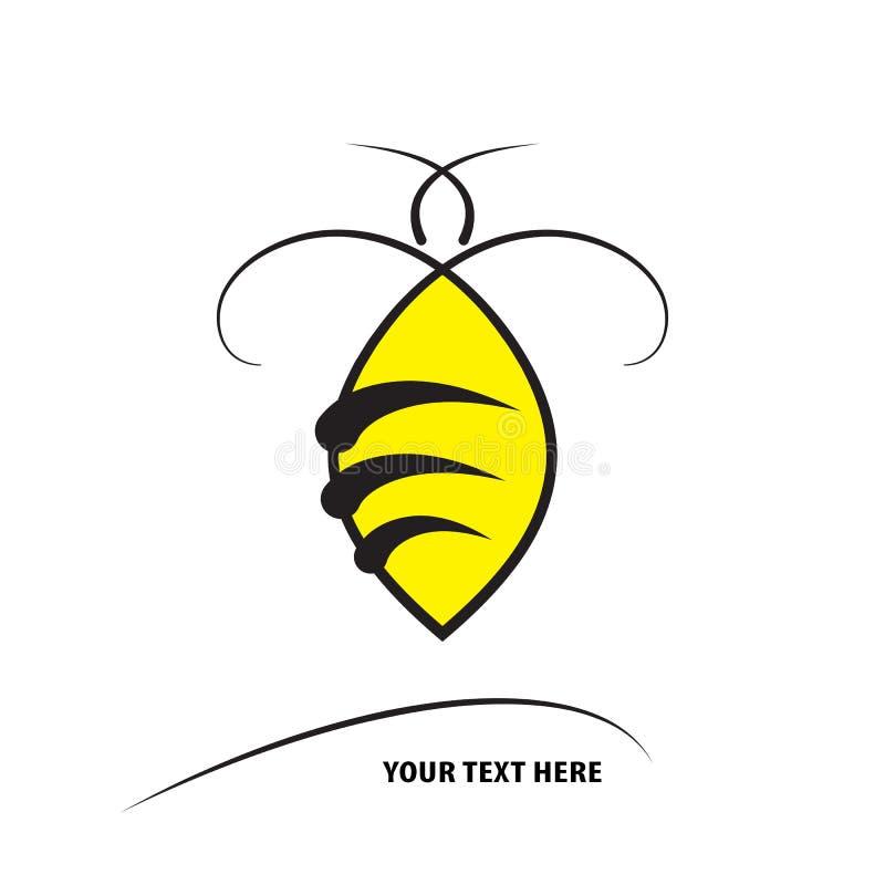 Путайте значок шаблона вектора дизайна пчелы иллюстрация штока