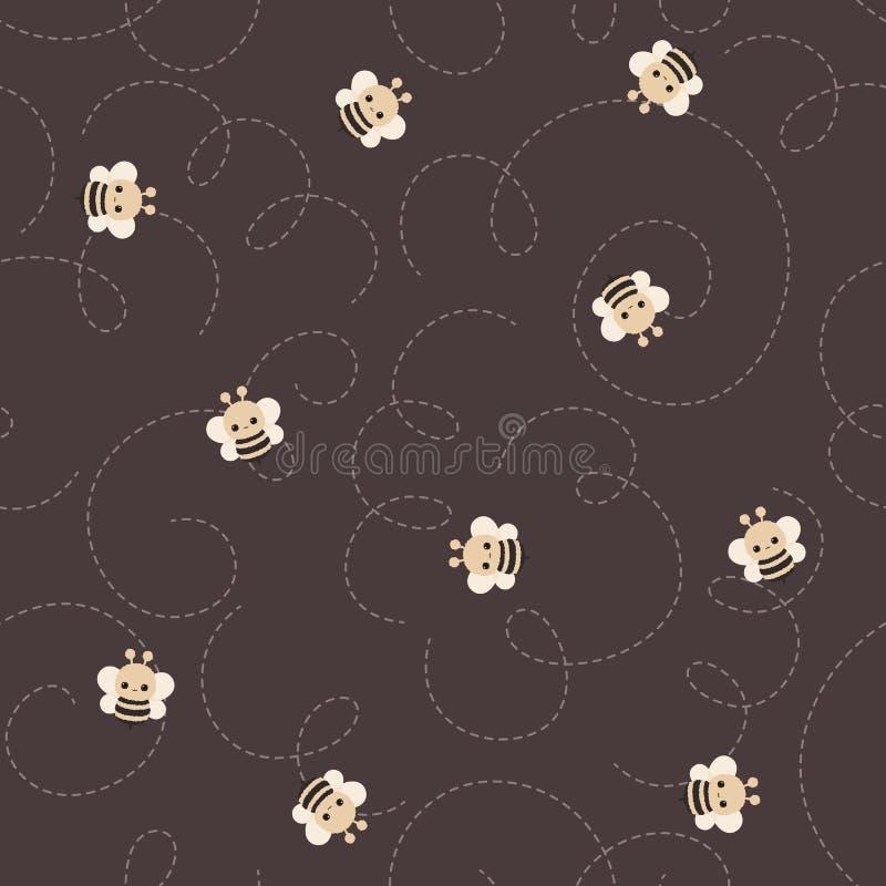 Путайте картина вектора пчелы безшовная иллюстрация вектора