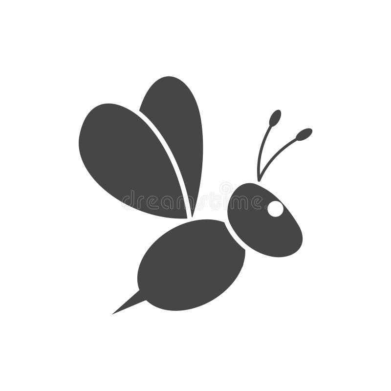 Путайте логотип значка пчелы бесплатная иллюстрация