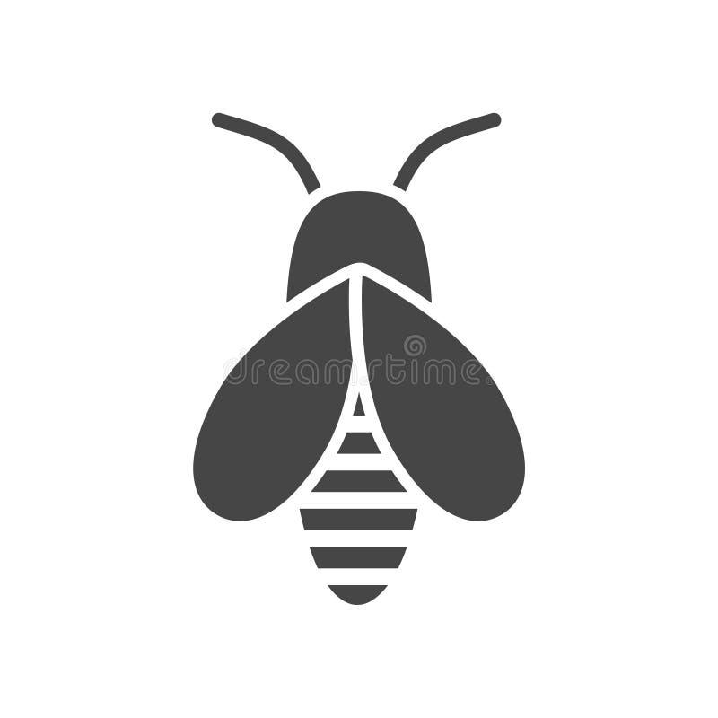 Путайте логотип значка пчелы иллюстрация штока