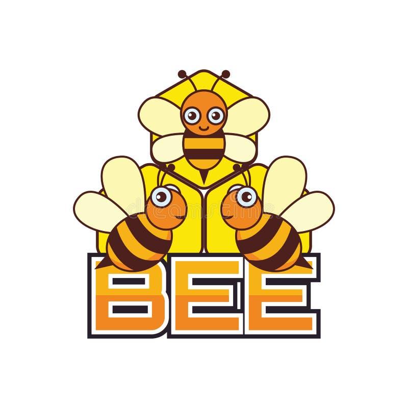 Путайте логотип пчелы/пчелы меда, иллюстрация вектора иллюстрация вектора