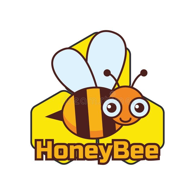 Путайте логотип пчелы/пчелы меда, иллюстрация вектора бесплатная иллюстрация