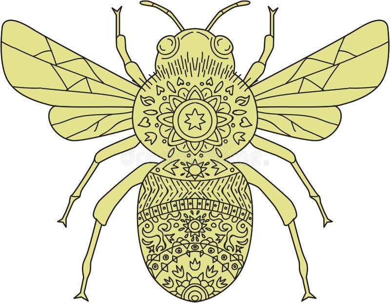 Путайте мандала пчелы бесплатная иллюстрация