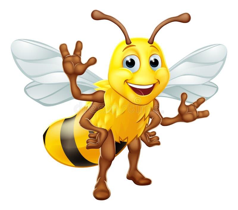 Путайте персонаж из мультфильма шмеля пчелы меда иллюстрация вектора