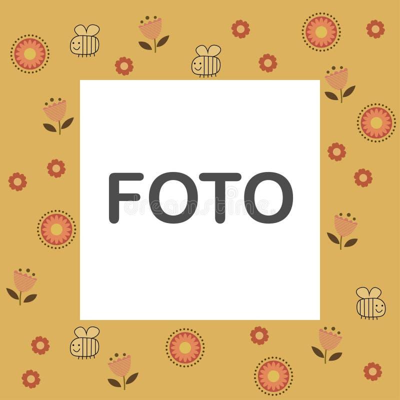 Путайте рамка foto пчелы бесплатная иллюстрация