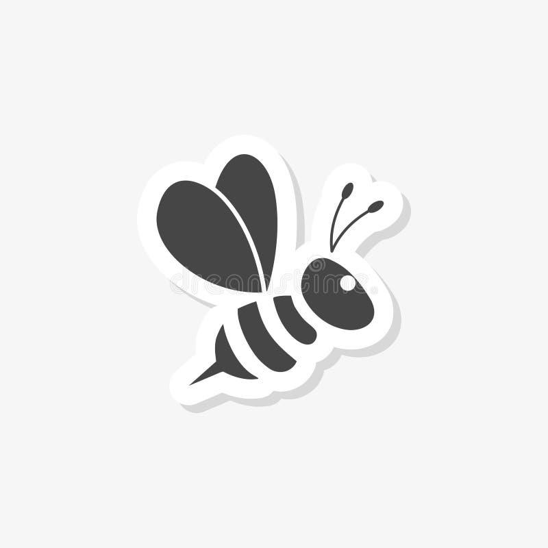 Путайте стикер пчелы иллюстрация штока