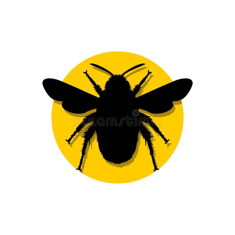 Путайте шаблон логотипа значка пчелы бесплатная иллюстрация