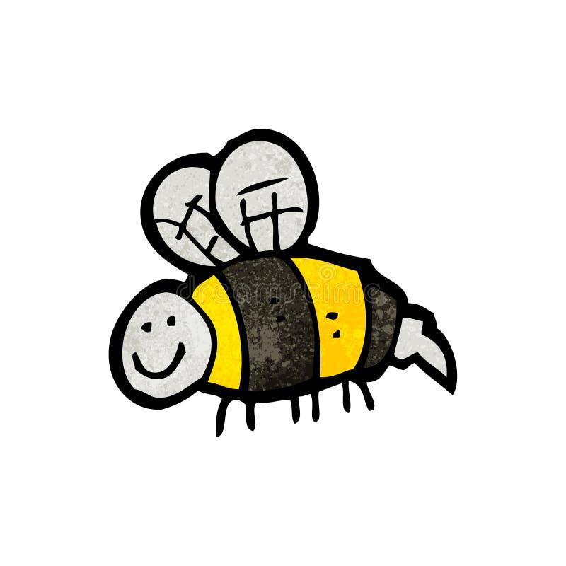 путайте doodle пчелы иллюстрация вектора