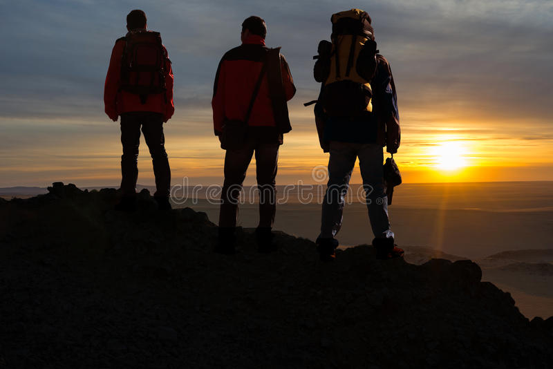 3 путешественника стоковое изображение rf