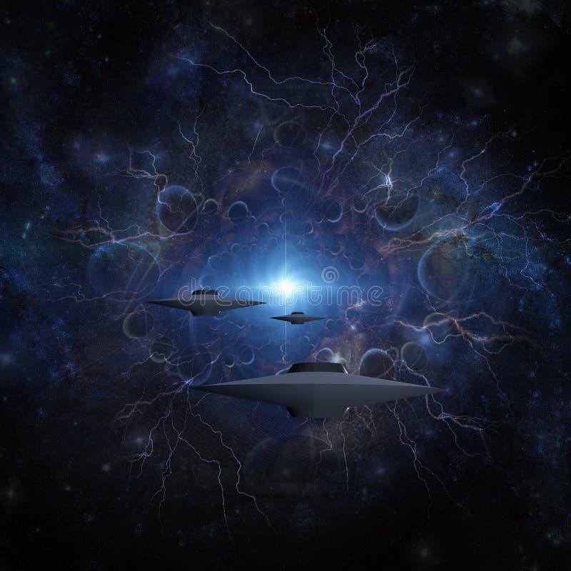 Путешественники космоса иллюстрация вектора