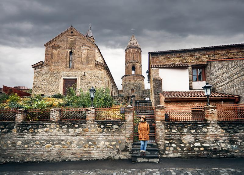 Путешественник в Грузии стоковые изображения rf
