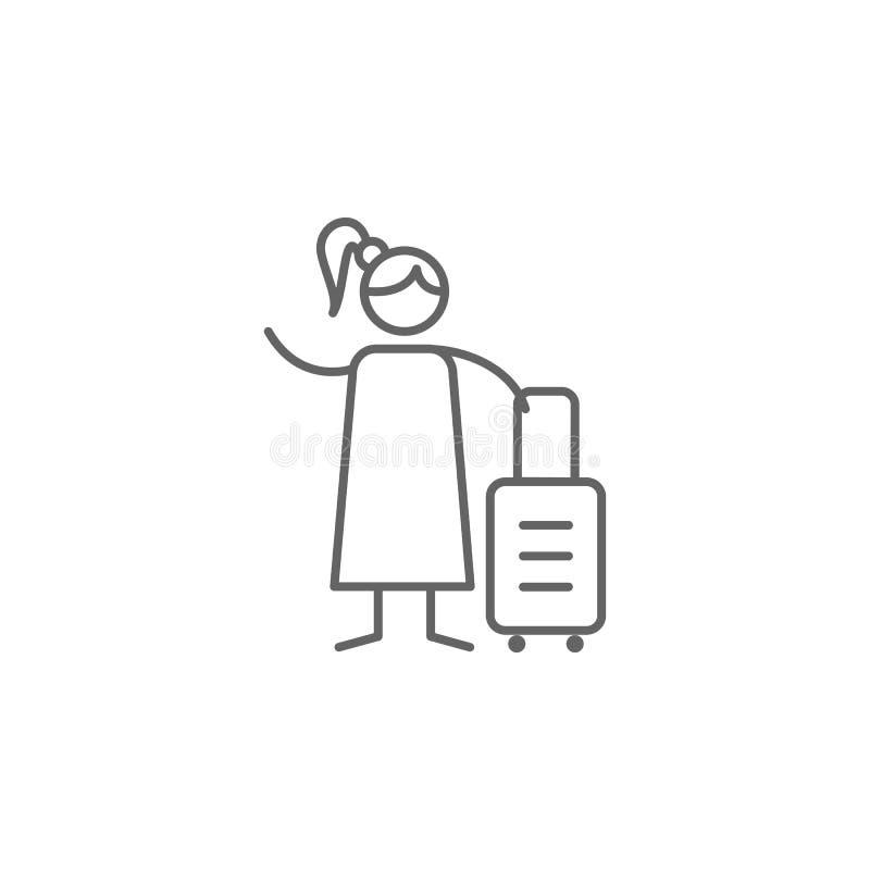 Путешественник, значок приключения Элемент значка приключения E r иллюстрация штока