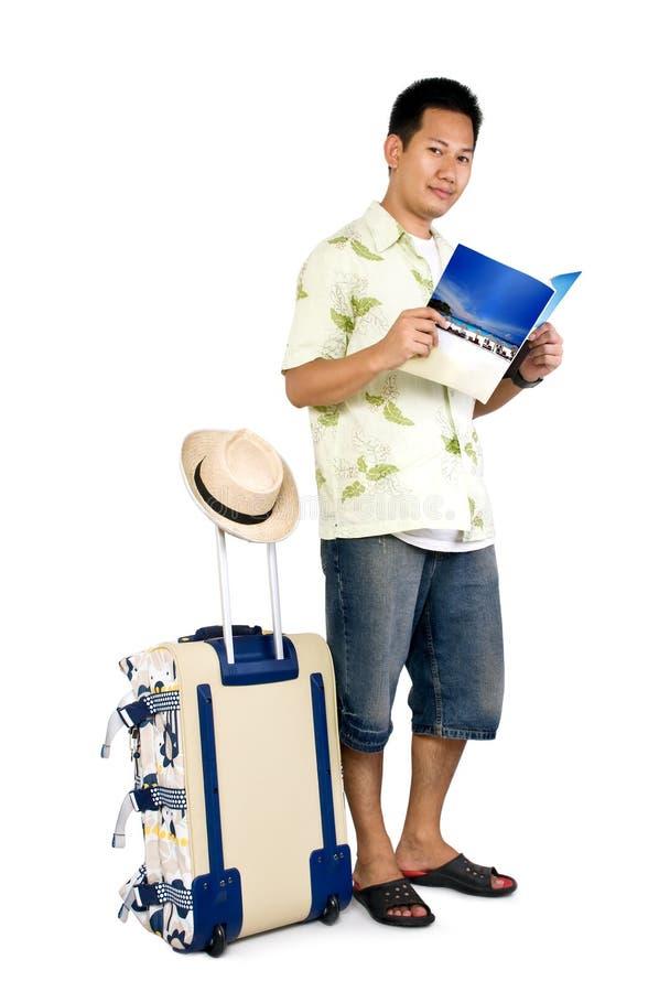 путешественник чтения кассеты стоковые фотографии rf