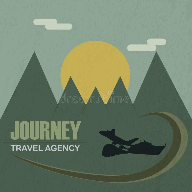 Путешествие бюро путешествий иллюстрация штока