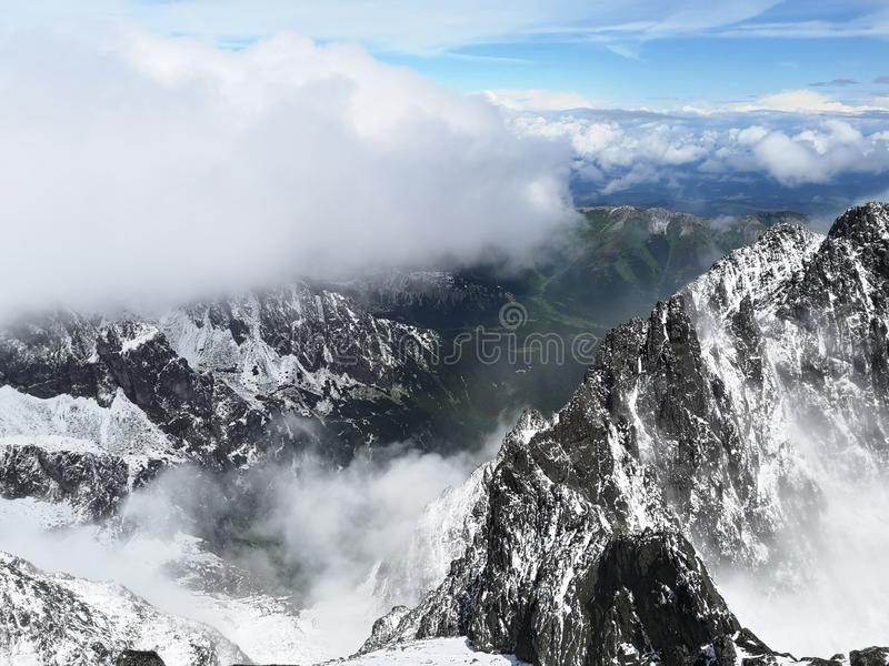 Путешествие высокое Tatras стоковое изображение