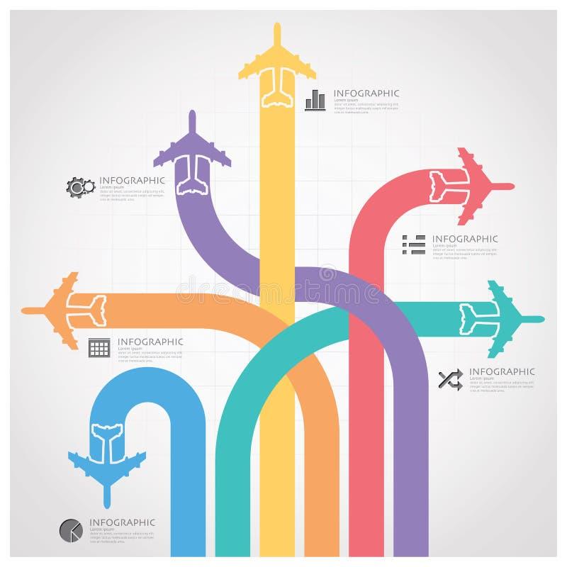 Путешествие дела с глобальной диаграммой Infographic авиакомпании иллюстрация вектора