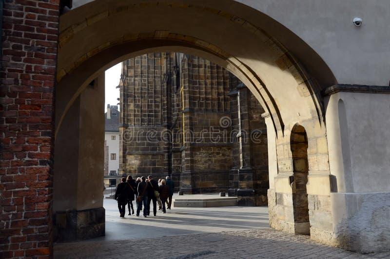 Путешествие замка Праги стоковые фотографии rf