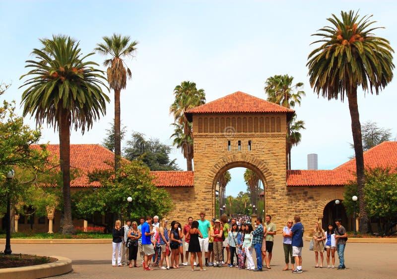 Путешествие кампуса Стэнфордского университета стоковое изображение