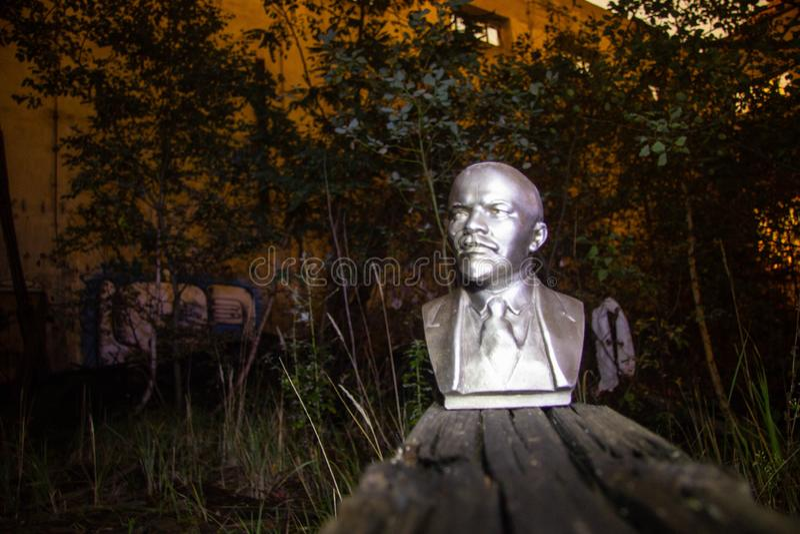 Путешествие места Ленин получившееся отказ руководителем стоковая фотография