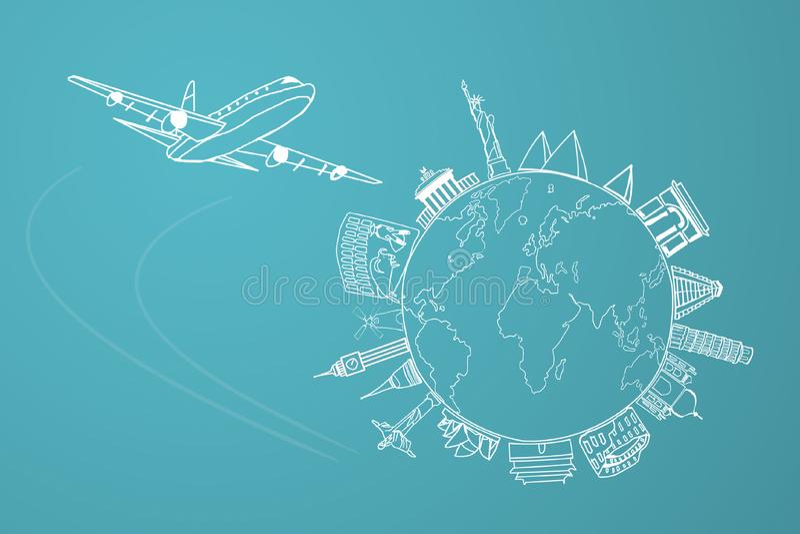 Путешествие мира иллюстрация вектора
