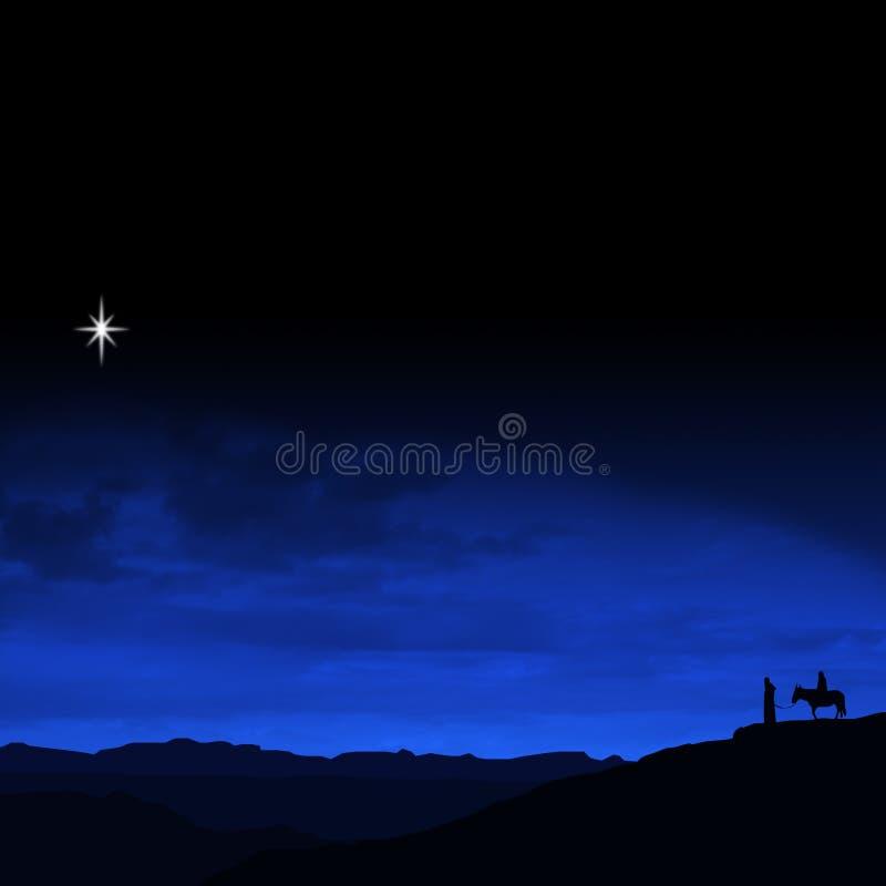 путешествие Рожденственской ночи иллюстрация штока