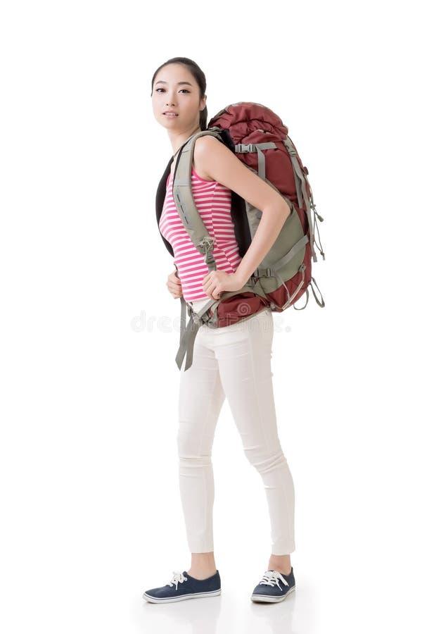 Путешествовать азиатская женщина стоковое изображение rf