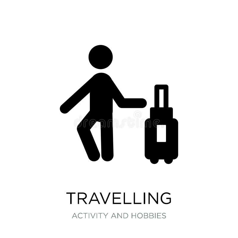 путешествовать значок в ультрамодном стиле дизайна путешествующ значок изолированный на белой предпосылке путешествующ значок век иллюстрация штока