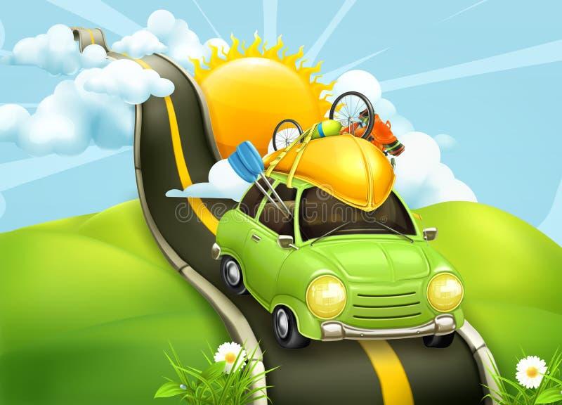 Путешествовать иллюстрацией автомобиля иллюстрация штока