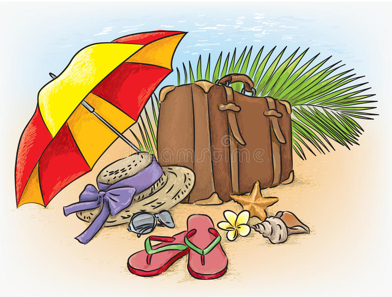 Download Путешествовать морским путем состав лета Иллюстрация вектора - иллюстрации насчитывающей праздник, настроение: 41652574