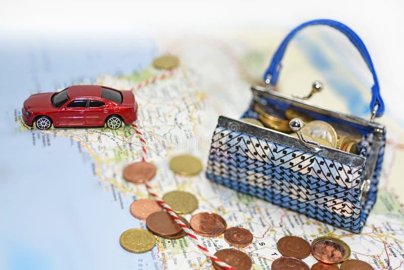 Путешествовать трата денег стоковое изображение