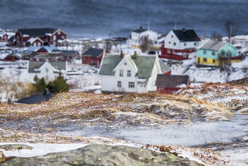 Путешествовать через острова Lofoten Линия запачканного Traditio стоковое фото
